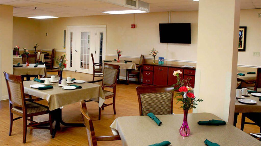 DSC03132 – Dinning Hall ceiling crop- Community Care