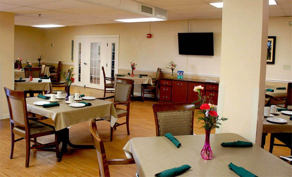 DSC03132 - Dinning Hall ceiling crop- Community Care